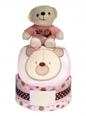 Picture of 352 My 1st Teddy Bear Pink Diaper Cake