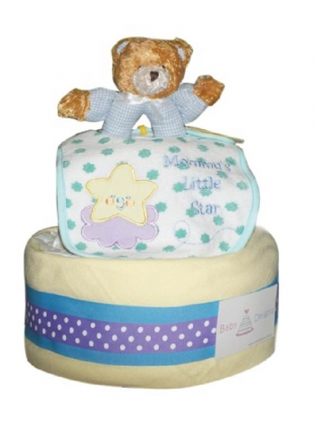 Picture of 277 Teddy Bear Rattles Diaper Cake