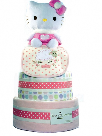 Picture of 312 Hello Kitt Pink Baby Diaper Cake
