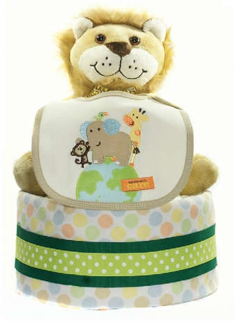 Picture of 300 Green Lion Champ Boy Diaper Cake