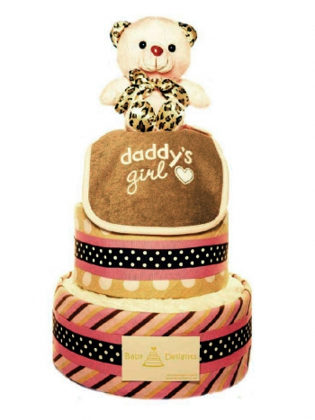 Picture of 336 Pink X Leopard Teddy Bear Cake