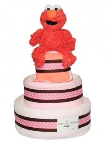 Picture of 251 Elmo Baby Girl Diaper Cake