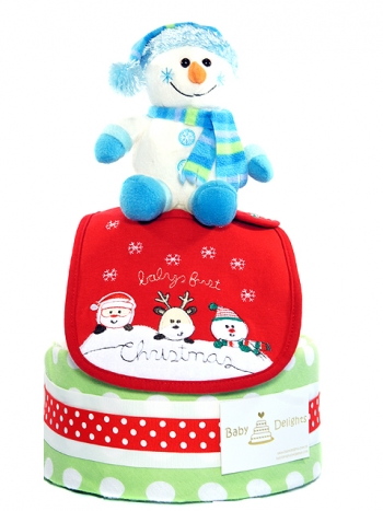 Picture of 345 X'mas Blue Snowman Diaper Cake