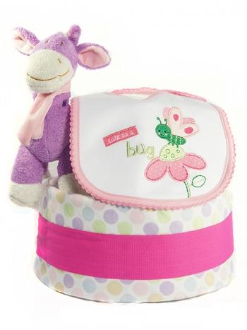 Picture of 301 Purple Giraffe Girl Diaper Cake
