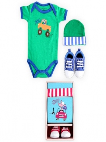 Picture of 3 Pieces Baby Gift Sets (Blue & Pink)